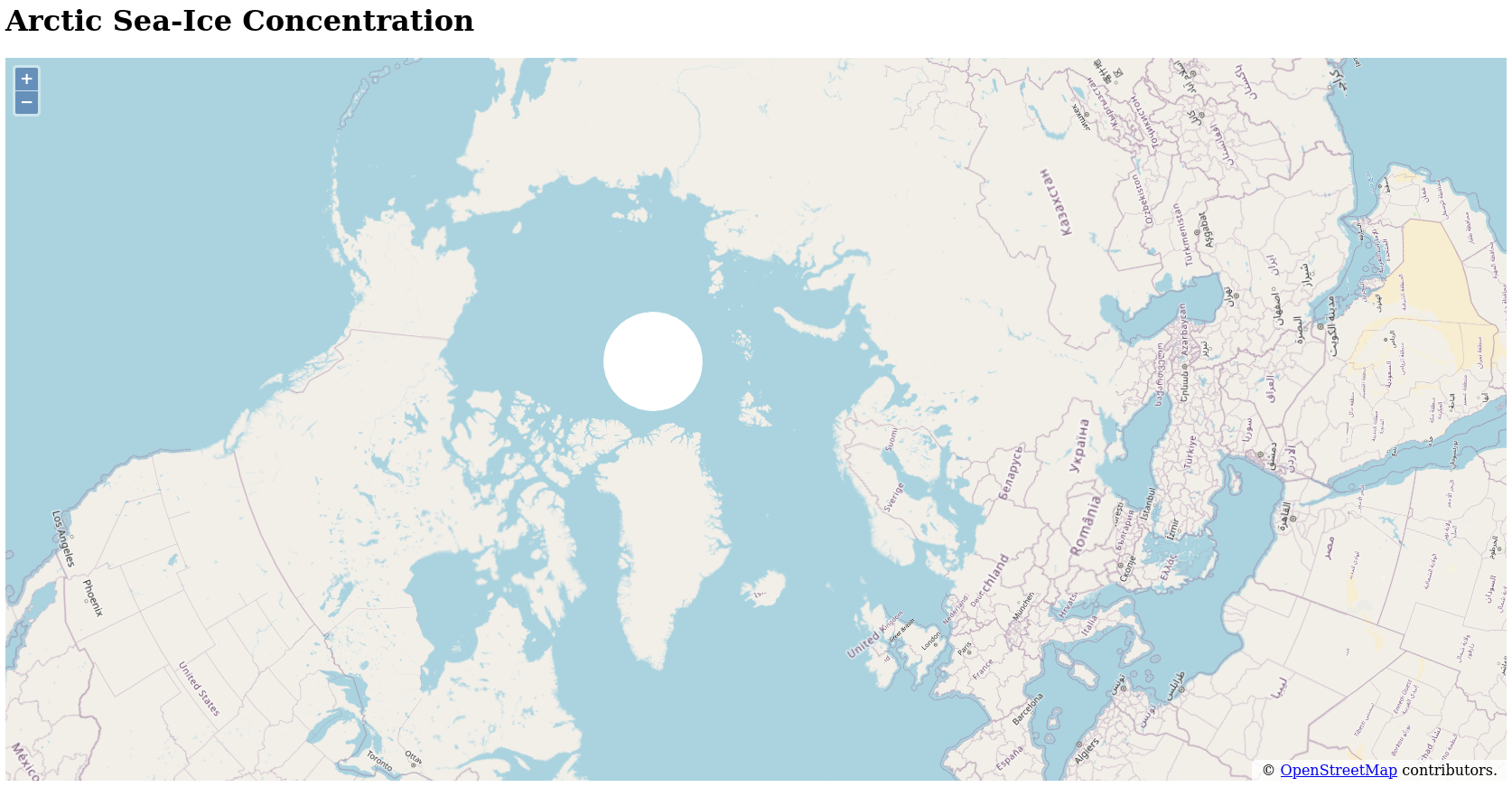 Arctic map centred on Longyearbyen