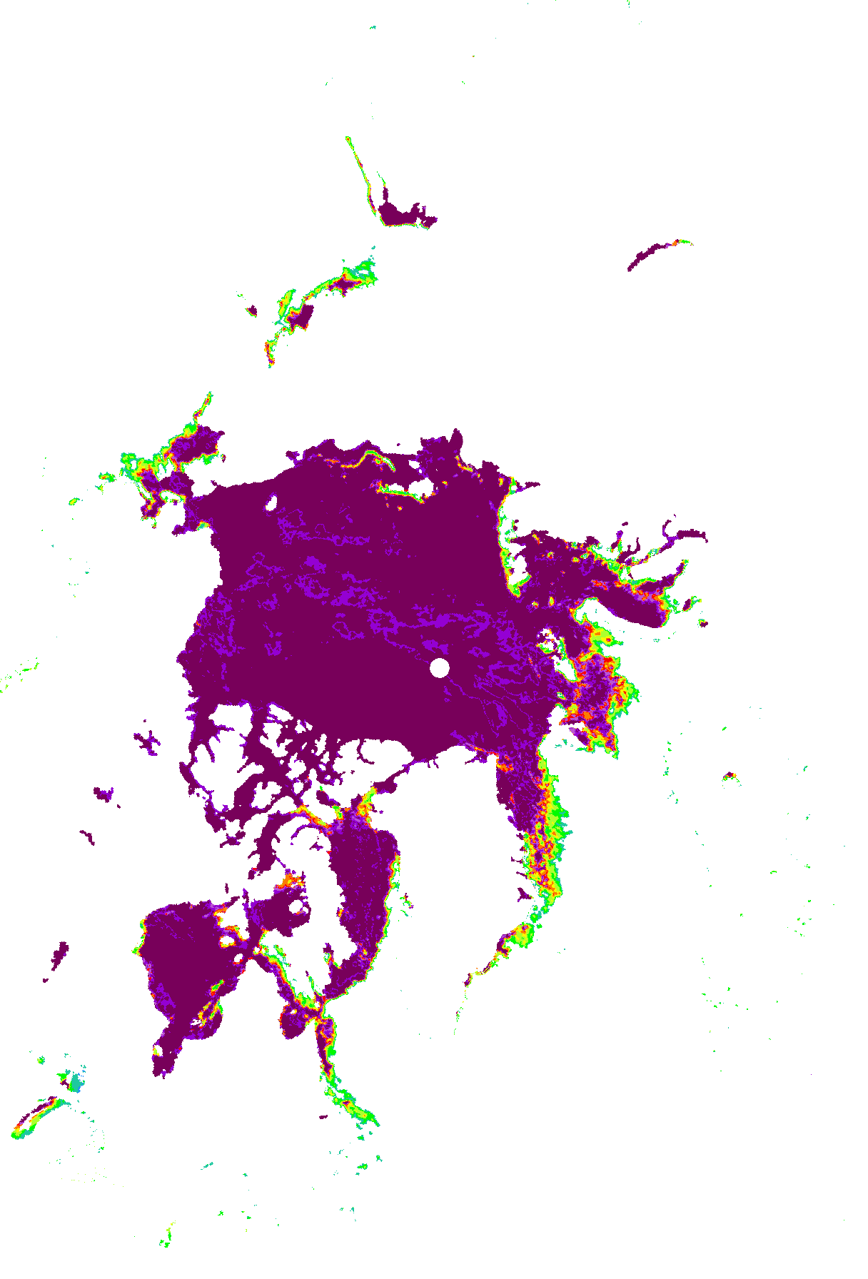 Sea-ice concentration image