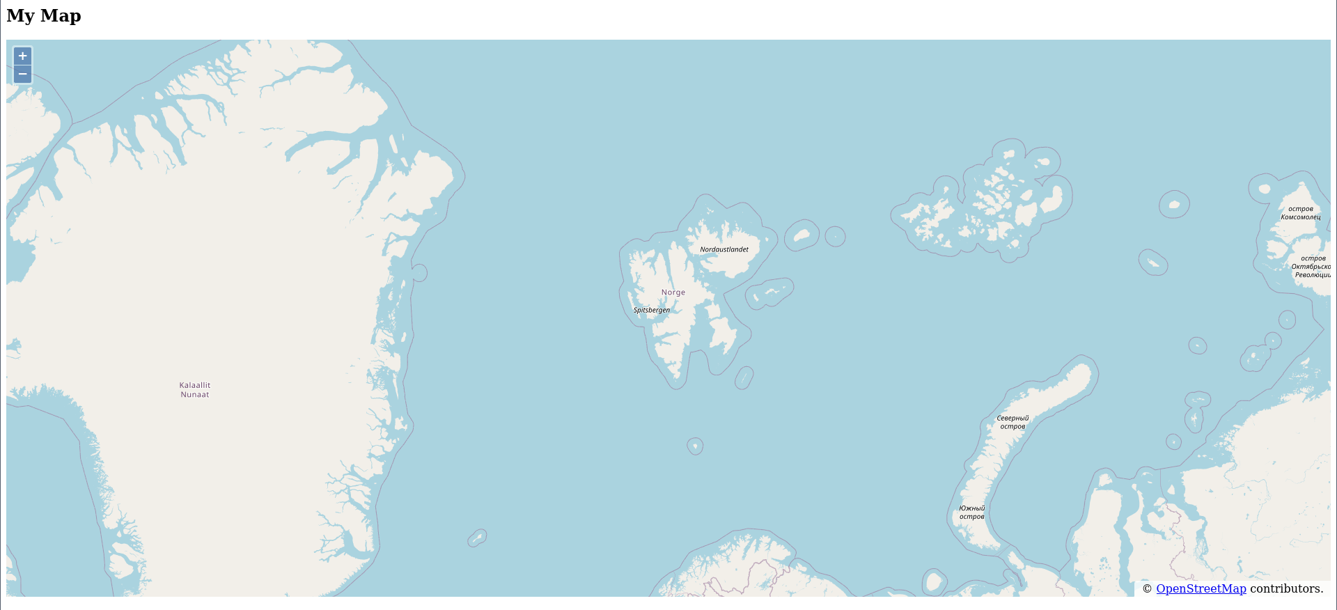 Map centred on Longyearbyen