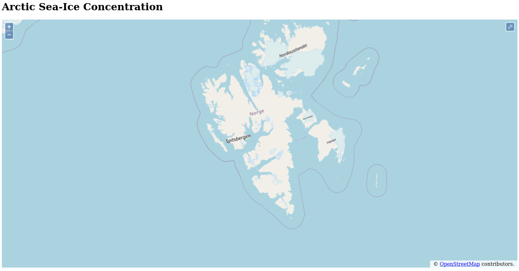 Svalbard-focussed map